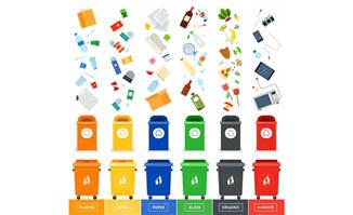 生活垃圾分类创意扁平化