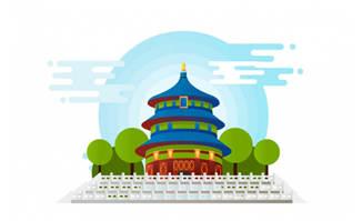 北京天坛矢量建筑设计素