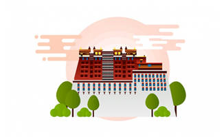 拉萨布达拉宫建筑设计素