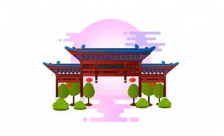 南京夫子庙建筑设计素材