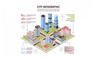 3D立体建筑信息图表图片素