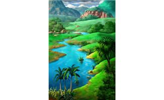CG场景原始森林背景设计素