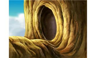 树洞松鼠的家ps手绘动画背景设计素材