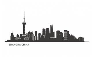 上海建筑剪影素材设计