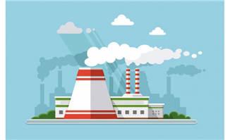 矢量工厂插画建筑设计图