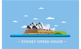 悉尼市地标建筑物悉尼歌