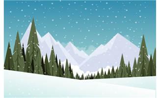 雪山自然风光矢量背景