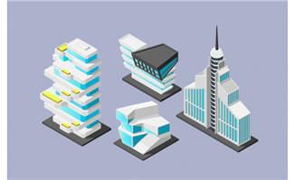 创意艺术建筑立体素材图片