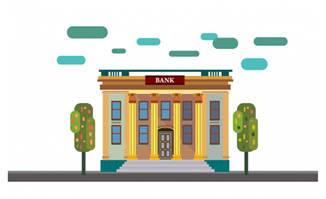 银行建筑矢量素材下载