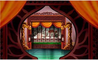 中国建筑手绘龙雕塑室内