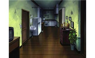 老式破旧的房屋室内环境动画背景设计