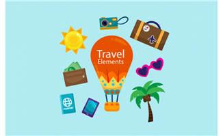 矢量旅游素材设计图