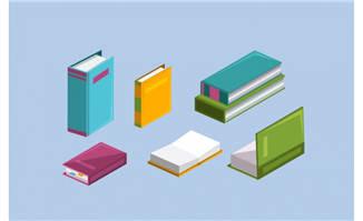 矢量图书书本素材设计