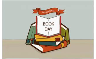 世界图书日和各种各样的书矢量素材