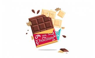 包美味巧克力板包装元素