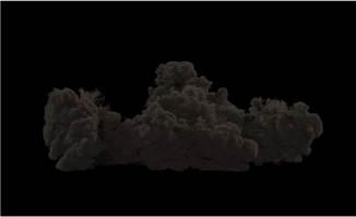 地面上蔓延的烟雾透明通道视频素材