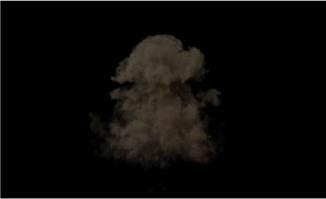 烟雾爆炸消失特效透明通道视频素材下载