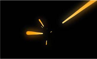 子弹射箭中间位置的动画