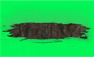 中间出现裂缝大坑的动画特效视频素材