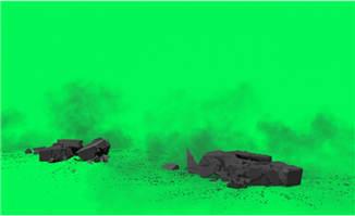 石头混泥土落地的动画特效视频素材