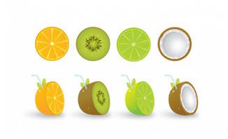 水果创意饮品素材矢量