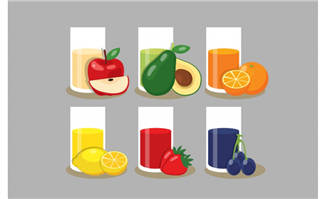 新鲜果汁饮料水果素材下