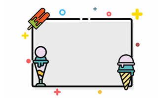 卡通冰淇淋雪糕mbe风格创