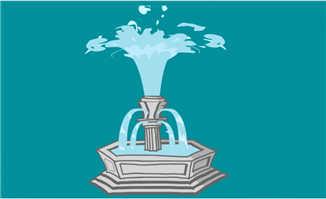 景观喷泉喷水的动画效果