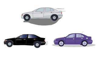 行驶中轿车动画视频短片