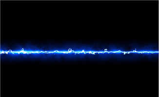一束蓝光划过的动画特效