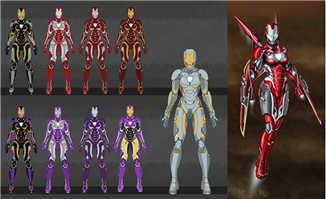 钢铁侠主角各种造型创作