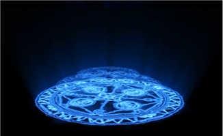 蓝色发光特效动画视频素