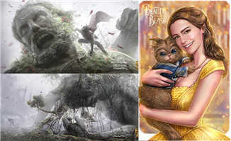 美女与野兽动画电影手稿