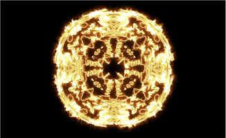 燃烧的圆圈图案创意设计