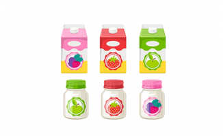酸奶矢量包装设计素材