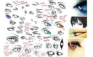 手绘漫画创作各种眼睛绘