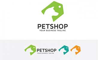宠物狗标签图标设计矢量