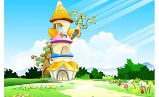 童话世界奇形怪状的房屋