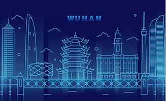 中国武汉城市建筑mbe线条