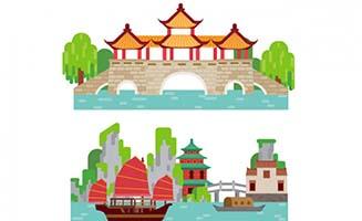 中国园林风格公园休闲亭