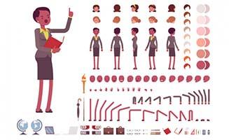 黑人女性教授动漫形象设