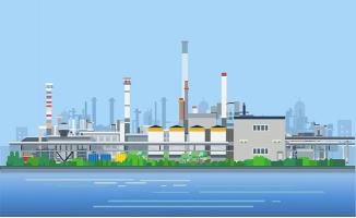 工厂化工厂建筑设计素材