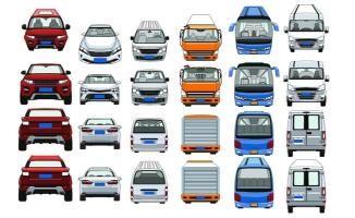 多款车型多视图手绘动漫