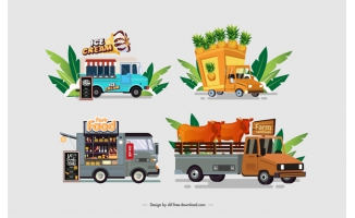 运输卡通车辆元素