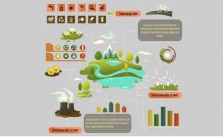 创意能源分布地图信息标