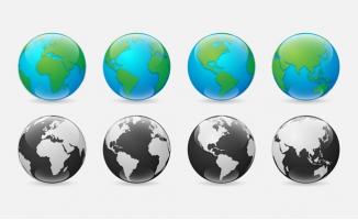 精美地球旋转设计矢量素