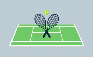 网球场网球拍网球体育运