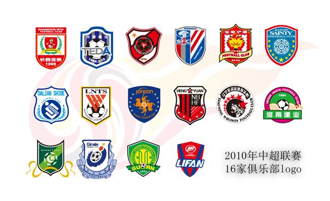 中超联赛俱乐部logo元素