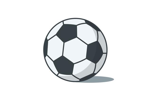 足球矢量素材足球运动黑白图案