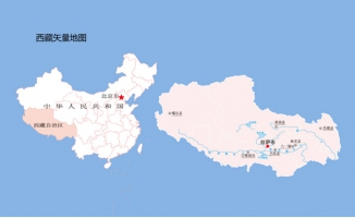 西藏矢量地图